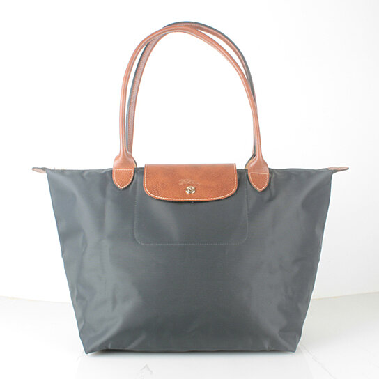 Buy Longchamp Le Pliage Large Nylon Tote Bag Grraphite 1899089897 Auth France  Made by bagshop on OpenSky a0bc4bfc7e473