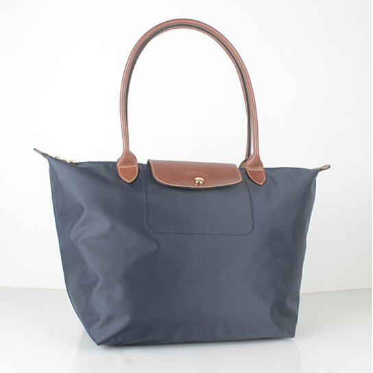 b06beb6c078f Buy Longchamp Le Pliage Large Nylon Tote Bag Navy Blue 1899089556 Auth  France Made by bagshop on OpenSky