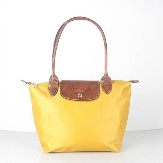 Buy Longchamp Le Pliage Small Nylon Tote Bag Curry Yellow 2605089432 by  bagshop on OpenSky d9c64eb83830a