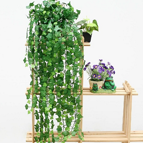 Buy 2 pcs artificial hanging ivy leaf garland plants vine for Artificial hops decoration