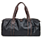 Black Sports Men's Large Capacity PU Leather Tote Shoulder Handbag Travel Gym Bag