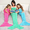 Girls Crochet Mermaid Tail Blanket For Kids and Adults