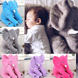 Large Stuffed Elephant Pillow Baby Toys Animals Plush Pillows