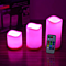 Set of 3Flameless Votive Candles Pillar LED Candles