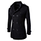 The New Men's Fashion Wool Woolen Coat Double Breasted Coat