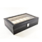 Watch Box Large 12 Mens Black Leather Display Glass Top Jewelry Case