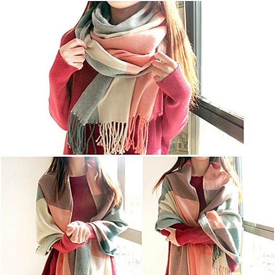 41debedb3e2ff Buy Women's Long Plaid Blanket big warm Scarf | tartan Wrap | plaid shawl  by balabala shop on OpenSky