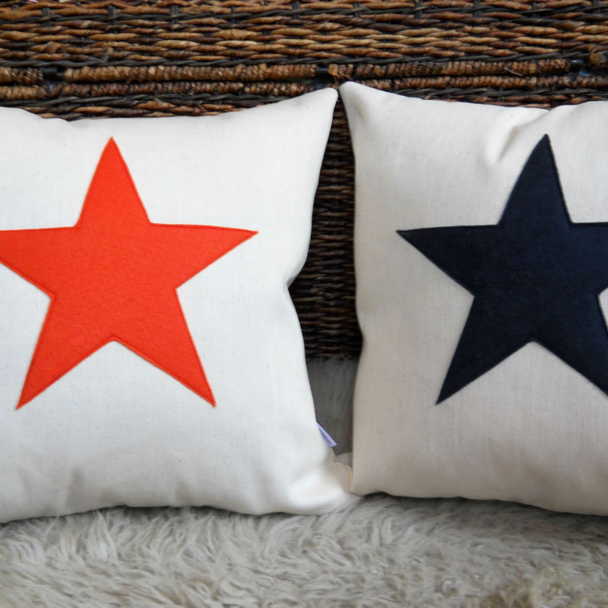 Star Scrabble Inspired Felt Star Canvas Cushion Cover Only