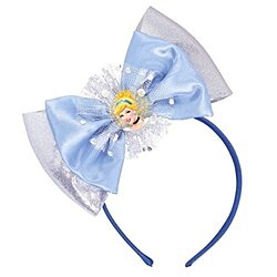 "Cinderella Deluxe Blue Disney Princess Headband Birthday Party Accessory Favour (1 Piece), Blue, 6 1/2"" x 8 1/2""."
