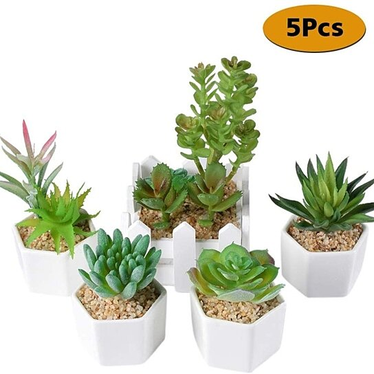 Buy Small Artificial Succulent Plants Potted Indoor Outdoor
