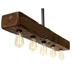 Farmhouse Style Distressed Wood - Recessed Beam Light Fixture - Rustic Decor Lighting