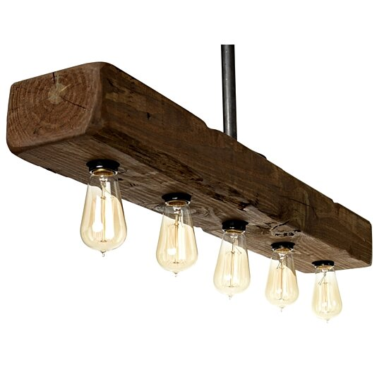 Farmhouse Style Distressed Wood Recessed Beam Light Fixture Rustic Decor Lighting