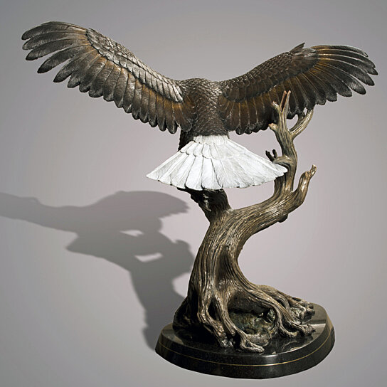 Buy life size eagle bronze wings of fury sculpture by for Wings of fury