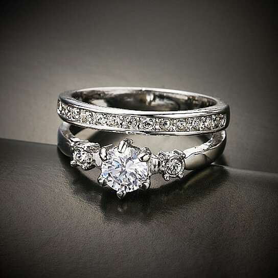 buy engagement style promise ring with accent stones and