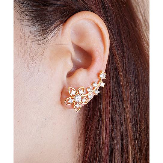 Buy Flower Ear Climber Floral Ear Crawler Gold And