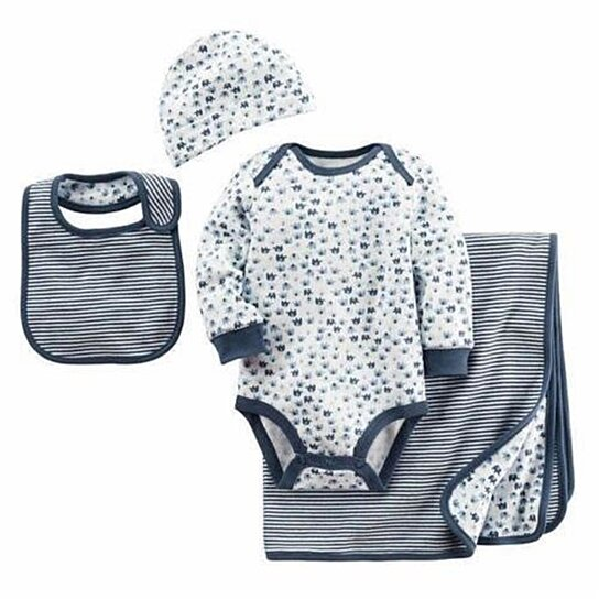 86d2f6b313eeb Buy Carter's Infant Layette 4PC Elephant Gift Set size 0-6mo Blanket Cap  Bib Bodysuit Newborn Girls 0-6 MO by Archies on OpenSky