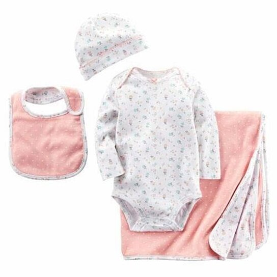 baacf11ad Buy Carter s Infant Layette 4PC Gift Set size 0-6mo Blanket Cap Bib ...