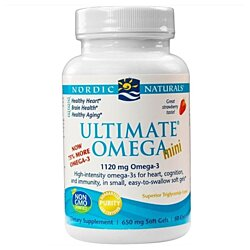 Nordic Naturals Ultimate Omega Mini Strawberry 60ct Healthy Heart Brain Aging NNS60