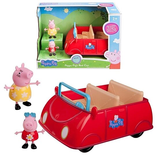 Buy peppa pig peppa 39 s red car w figures mummy nick jr kids for Affordable furniture redcar