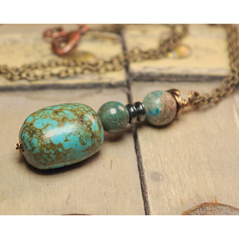 buy blue and turquoise colored gemstone pendant by bd