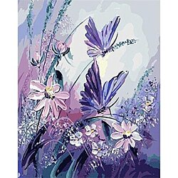 Butterfly Flying DIY Painting By Numbers Wall Art Picture Canvas Wedding Decoration Handpainted Oil Painting Artwork