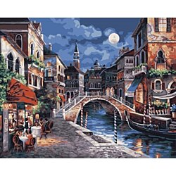 City Night Landscape DIY Painting By Numebrs Modern Wall Art Canvas Hand Painted For Home Decor Wall Art Picture