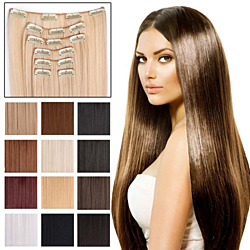 "7-Piece 24"" Full Head Clip-in Hair Extensions"
