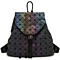 New Women Luminous Backpacks Female Fashion Girl Daily Backpack Geometry Package Sequins Folding Bags