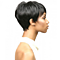 Women's Sexy Short Wigs for Black Women Natural Black Hair Synthetic Straight Cosplay Wigs Perruque Air Bangs