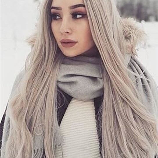 White Ash Gray Blonde Lace Front Wig 24 26 Inches