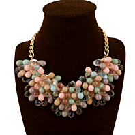 FASHION MIXED MULTICOLOR BEADS NECKLACE