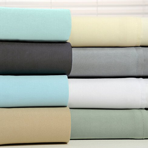 6 Piece 1800 Series Organic Bamboo Sheet Set in 7 Colors
