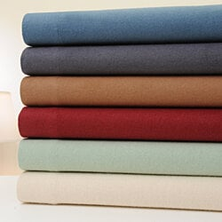 4-Piece Set: Bibb Home 100% Cotton Flannel Solid Sheet Set