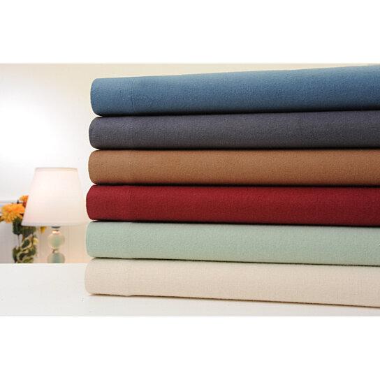 Buy Bibb Home 180gsm Extra Soft Deep Pocket Solid Flannel