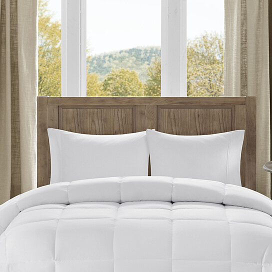 Buy Bibb Home All Season Overfilled Down Alternative Comforter Hypoallergenic White By Bed Bath Fashions On Dot Bo