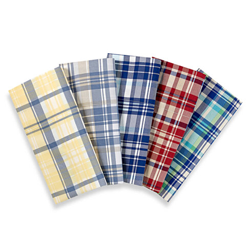 Lakeside Living 300 Thread Count 100% Cotton Sateen Plaid Sheet Set with Deep Pocket - 5 Colors