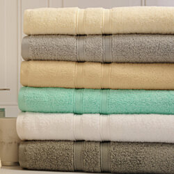 Bibb Home 6-Piece 100% Egyptian Cotton Towel Set
