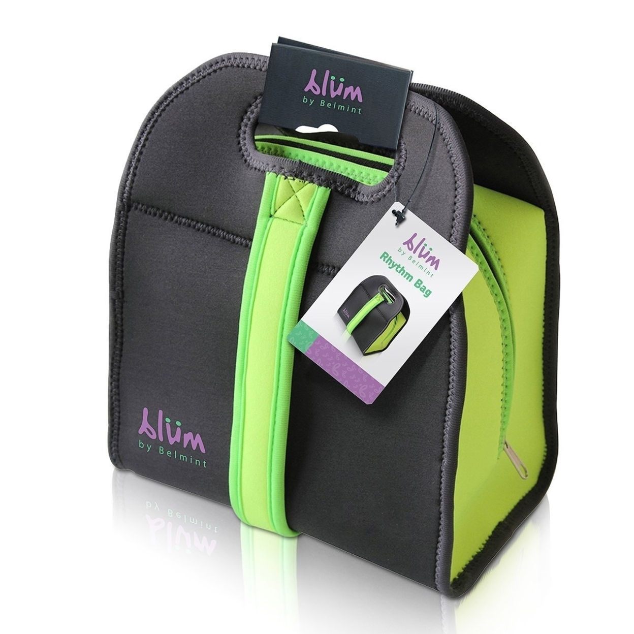 Blum Collection Insulated Neoprene Lunch Bag with Adjustable Strap (Green) 59b9aaa12a00e46d944912a2