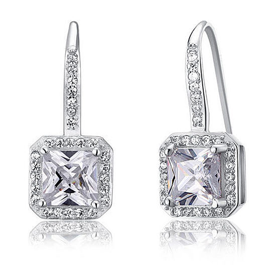 4339159dc27615 Buy Frosted Glaze - 1.5 Carat Solid 925 Sterling Silver Dangle Earrings by  Benedicts on OpenSky