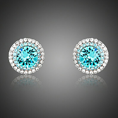 'Blue Sky' Austrian Crystal Stud Earrings