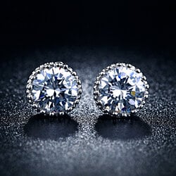 Brilliant Shine 8mm Swarovski Crystal Earrings