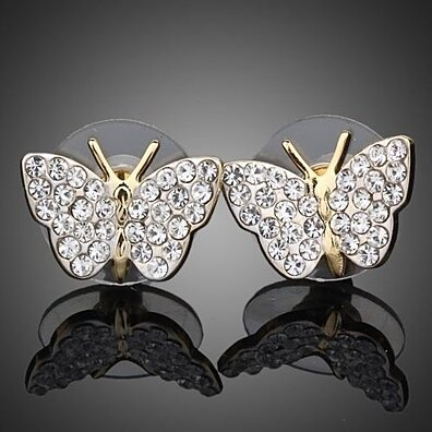Crystal Butterfly Swarovski Element Studs