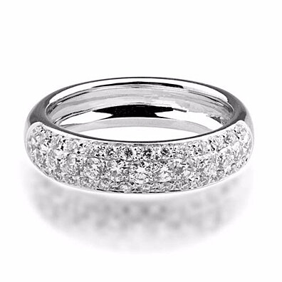'Halo' Platinum Plated Ring