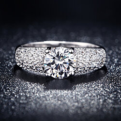 Timeless Luminous 1.5 Carat Crystal Ring - Blowout SALE! Free-Shipping!