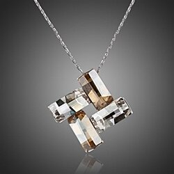 Selene Swarovski Elements Platinum-Plated Necklace