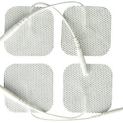 TENS Unit Electrode Pads, White Cloth Backed, 2x2 Square - 16 pack