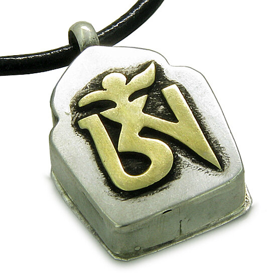 Buy Amulet Tibetan Ancient Gold Tone Om Magic Symbol