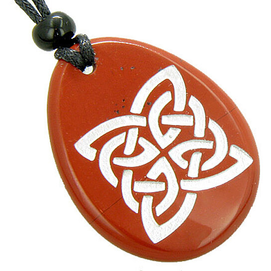 Buy Magic Celtic Shield Knot Amulet Red Jasper Word Stone