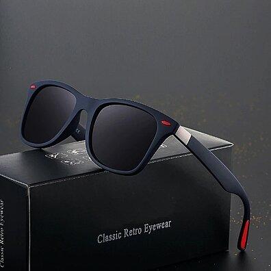 0ccc8e6f0fd3 DESIGN Classic Polarized Sunglasses Men Women Driving Square Frame Sun  Glasses Male Goggle UV400 Gafas De Sol