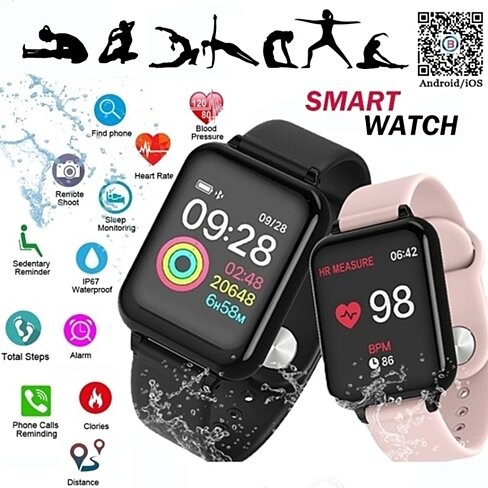 Heart Rate Blood Pressure Smartwatch for ios and Android